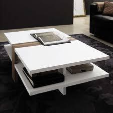 elegant white coffee table