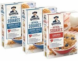 3 bo quaker oatmeal squares cereal