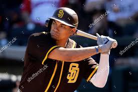 San Diego Padres Josh Naylor bats ...
