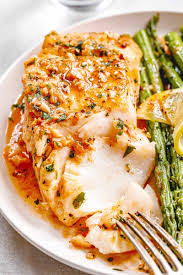 Garlic Butter Cod with Lemon Asparagus ...