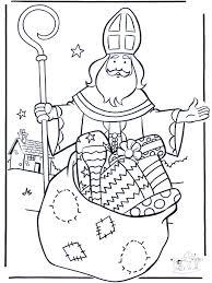 Sint Met Kadootjes Kleurplaten Sint