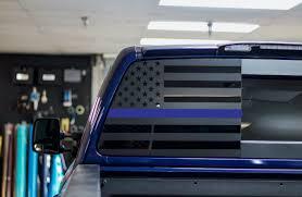 2014 2019 Chevrolet Silverado Gmc Rear Window Distressed Flag Decals Pick Color