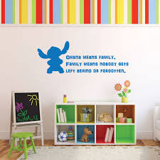 Disney Stitch Wall Decal Vinyl Lettering Inspirational Quotation Ohana Means Family Family Means Nobody Gets Left Behind Or Forgotten Customvinyldecor Com