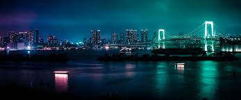 glowing bridge 3440 1440 wallpaper
