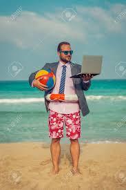 beach man having fun