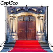 Capisco Old Palaces Door Red Carpet Photography Backgrounds Vinyl