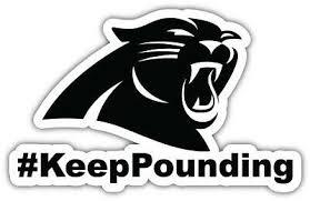Carolina Panthers Nfl In Love Car Bumper Sticker Decal 3 Or 5