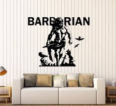 Wall Decal Barbarian Fighter Knight War Medieval Vinyl Sticker Ed1926 Wallstickers4you