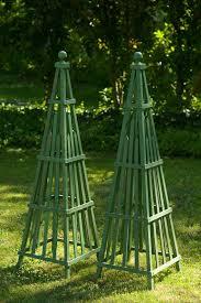 garden obelisk art sculpture wooden