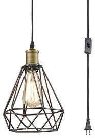 claxy farmhouse plug in pendant light