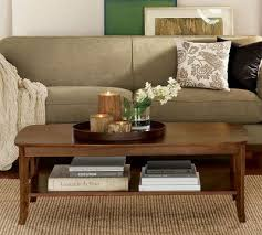 coffee table decor contained by tray