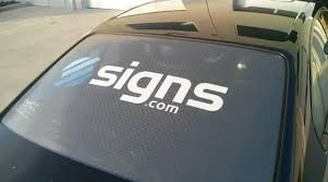 How To Installing A Perforated Car Window Decal Signs Com Blog