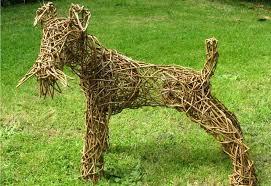 Fox Terrier - Willow Sculpture   Fox terrier, Dog sculpture, Sculpture