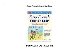Easy French Step-By-Step by saikojilukman1-201 - issuu