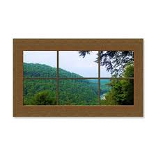 Fake Window Mural Mountain View 35x21 Wall Decal By Babybree Cafepress