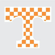Amazon Com Tennessee Volunteers Checkered Power T Logo 4 Vinyl Decal Ut Car Truck Window Sticker Everything Else