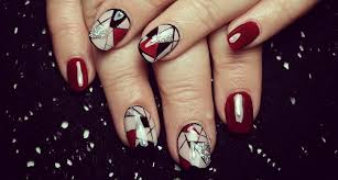 red acrylic nail art designs ideas