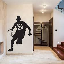 Basketball Wall Decal Name And Number