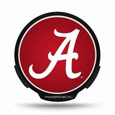 Alabama Crimson Tide Led Window Decal Light Up Logo Powerdecal Ncaa Balmart Sports Merchandise