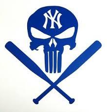 Punisher New York Yankees Vinyl Decal Sticker For Car Truck Window Laptop Etc Ebay
