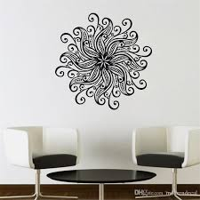 Flower Pattern Mandala Wall Stickers Home Decor Vinyl Art Wall Decals Removable Bedroom Wall Murals Wall Sticker Designs Wall Sticker For Kids From Moderndecal 8 19 Dhgate Com