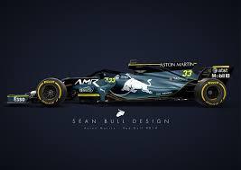 2018 Aston Martin Red Bull F1 Car Concept Livery