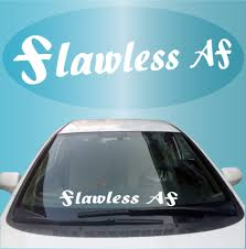 Flawless Af Jdm Windshield Decal Banner Topchoicedecals