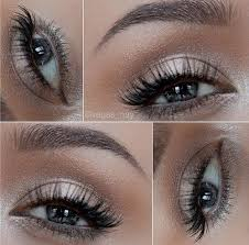 white and silver eye makeup natural