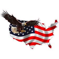 Amazon Com Nostalgia Decals American Eagle United States Magnet Decal Version 1 Is 6 In In Size Automotive