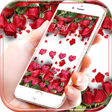 red rose live wallpaper theme for
