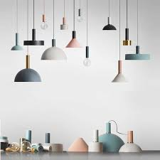 nordic loft simple pendant lights e27