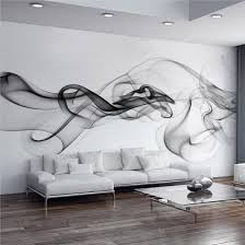 Shop Custom Wall Mural Modern Smoke Clouds Abstract Art Large Wall Painting Bedroom Living Room Sofa Tv Photo Wall Paper 3d Online From Best Wall Stickers Murals On Jd Com Global Site