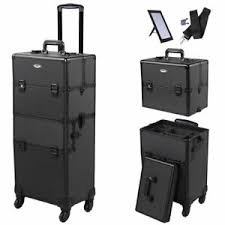 cosmetic makeup case salon trolley