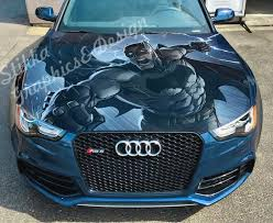 Vinyl Car Hood Wrap Full Color Graphics Decal Batman Gotham Etsy