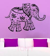 Mehndi Elephant Wall Stickers Indian Symbol Henna Vinyl Decals Decor Office Home Living Room Interior Art Murals Wall Sticker Elephant Wall Stickersvinyl Decal Aliexpress