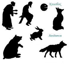 karliam.ru-колобок-театр-теней | Тени, Рисунки петухов, Театр