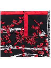 Alexander Mcqueen Ivy King And Queen Scarf Aw20 | Farfetch.Com