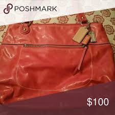 coach purse gorgeous pink color in