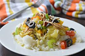 slow cooker hawaiian haystacks recipe
