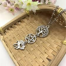 pegasus wiccan necklace pagan pendant