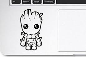 Marvel S The Guardians Of The Galaxy Baby Groot Vinyl Decal Sticker A B Traders