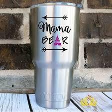 Custom Mama Bear Mom Quote Vinyl Decal Sticker For Car Tumbler Cup Laptop B01icr32lg