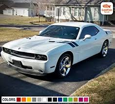 Amazon Com Gold Fish Decals Decal Graphic Racing Side Hood Fender Hash Stripe Kit For Dodge Challenger Rt Srt 2008 2009 2011 2013 2015 2016 2017 Automotive