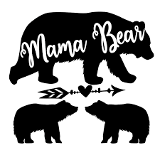 Amazon Com Mama Bear With Optional Cubs Vinyl Decal Mama Bear Vinyl Decal Sticker White Cars Trucks Suvs Vans Laptops Walls Glass Metal 5 5 X 5 25 Handmade