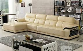 cream color leather corner sofa rs