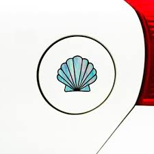 The Decal Store Com By Yadda Yadda Design Co Clr Car Shell Scallop Seashell Stained Glass Style Vinyl Car D