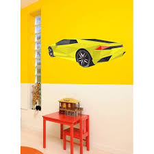 Shop Hyper Car Polygonal Wall Decal Super Car Polygon Modern Wall Art Sticker Lamborghini Overstock 31804279