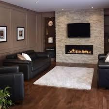 modern stone fireplace design houzz
