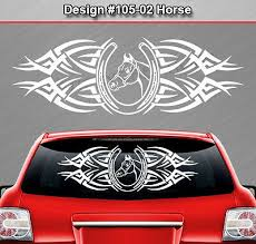 Auto Parts Accessories 129 02 Horse Horseshoe Rear Window Decal Sticker Vinyl Graphic Tribal Car Suv Smaitarafah Sch Id