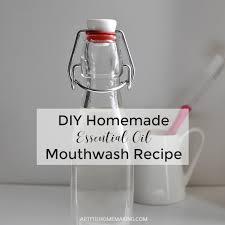 natural essential oil mouthwash recipe